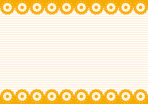 Wallpaper - Flower cookie - Orange