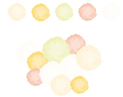 Decorative paper Pompon