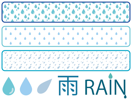 Rain pattern & material