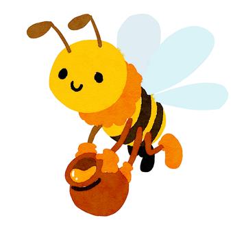 Honeybee carrying honey