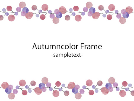Autumn color frame ver 43