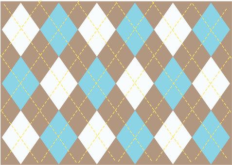 Argyle pattern blue