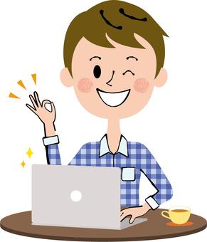 Wink PC Work Private Wear Male Dark Brown