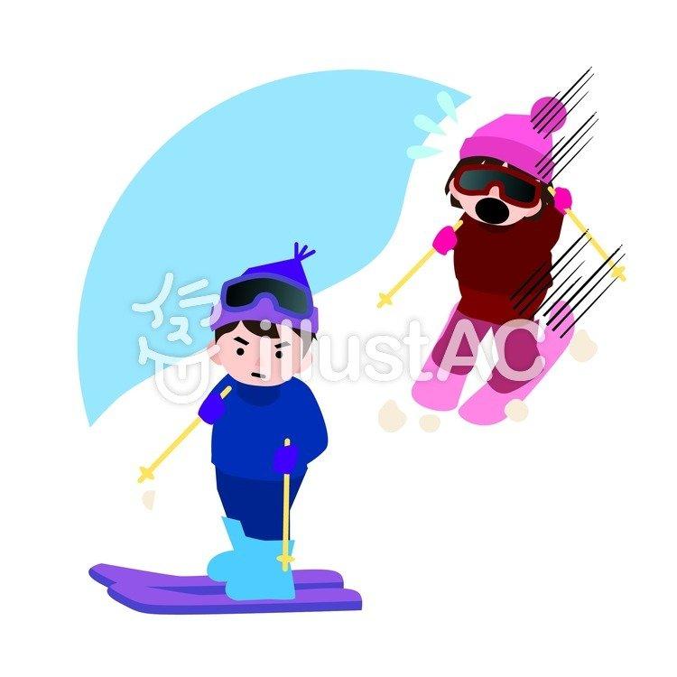 スキー場事故イラスト No 385335無料イラストならイラストac