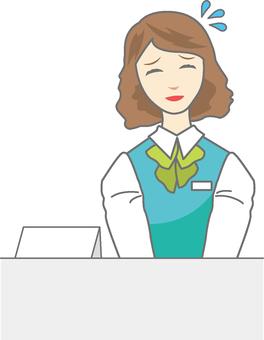 Reception woman 7