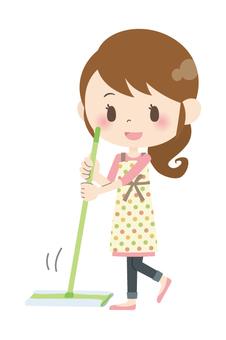 家庭主婦A *打掃房間07