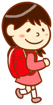 Female elementary school student (school bag)