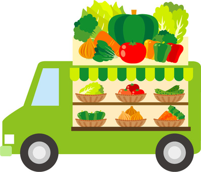 Moving sales of vegetables