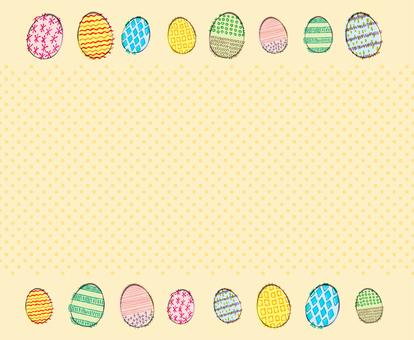 Easter egg background frame
