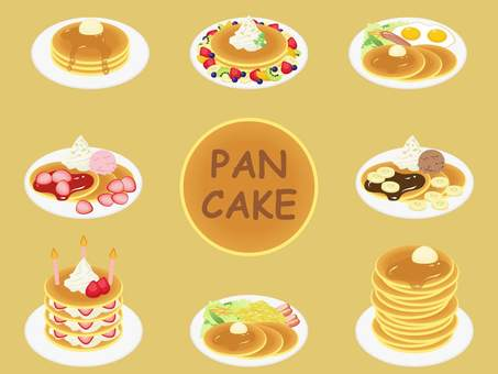 Pancake illustration set