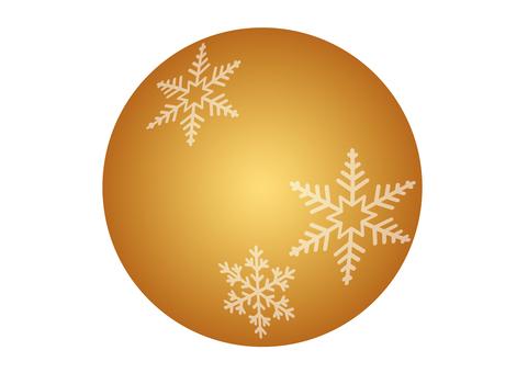 Snow crystal ball ornament money