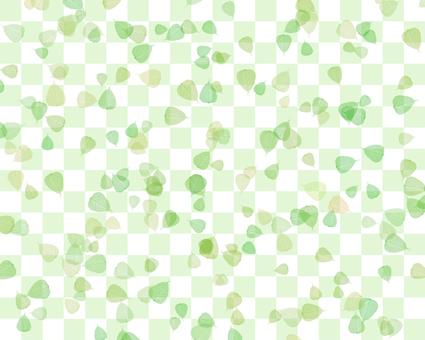 Leaves and checkerboard background 1