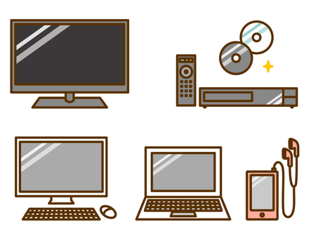 Home electronics (TV, PC, DVD player