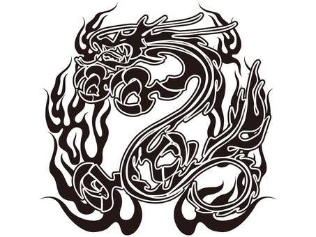 Tribal dragon - 006