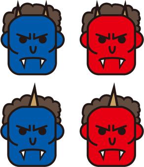 Demon's face