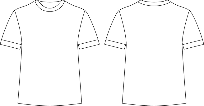 T-shirt _ front / back _ white