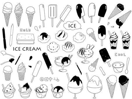 Ice cream monochrome