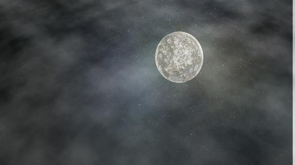 Moon cloudy sky