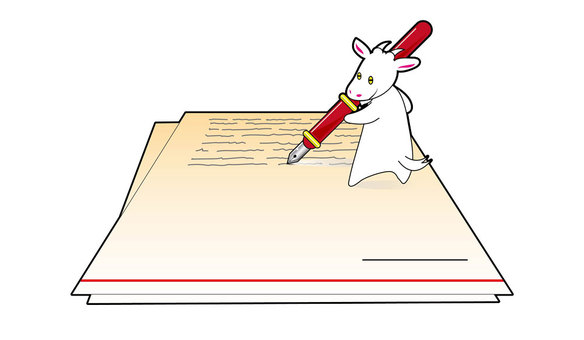 Write a white goat letter 2