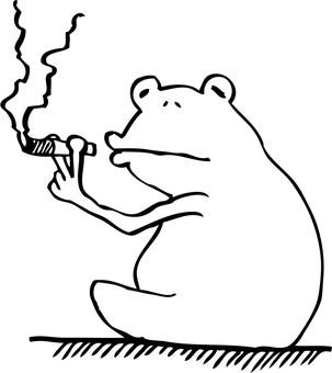 Frog resting 2