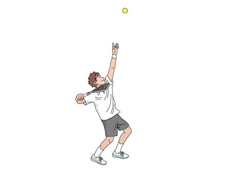 Serve tennis player