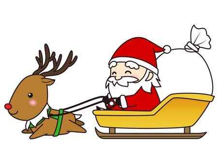 Santa and reindeer (Sori