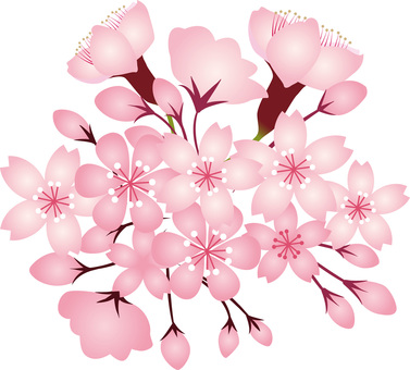 桜春花植物三月四月アイコンイラスト花弁蕾