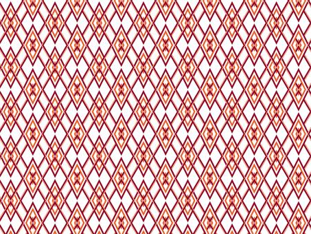 Japanese Pattern Pattern (Red and Orange)