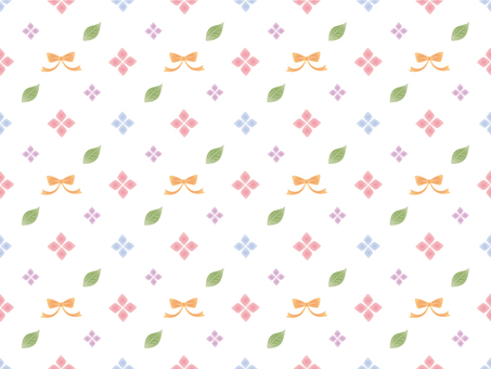 Ribbon and flower pattern colorful