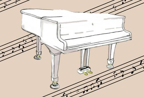 Grand piano music classroom musical instrument