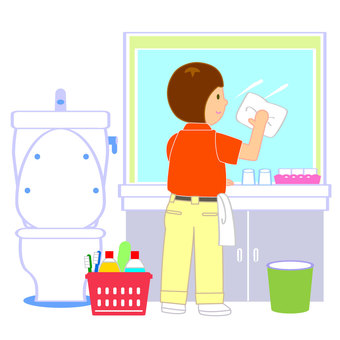 Washroom clean