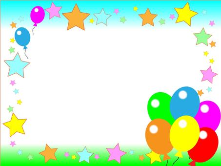 Balloons and stars (sky)