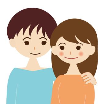 一對年輕夫婦的形象