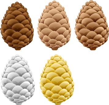 ai Pine cone 5-piece set