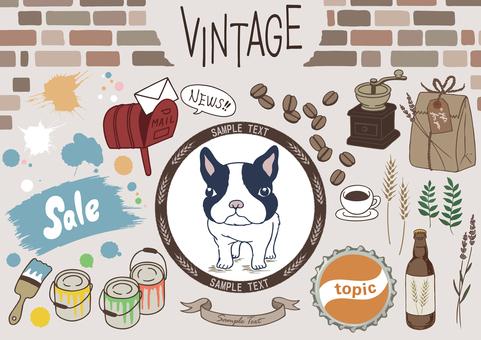 Set of vintage-style illustrations Color version