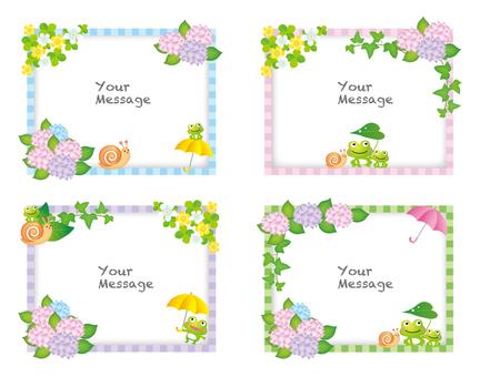 梅雨のメッセージカード