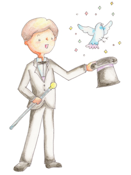 Magician to take a pigeon