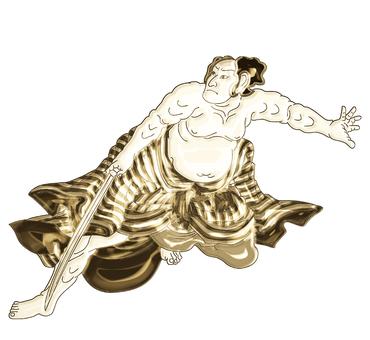 Ukiyoe Samurai Gold version