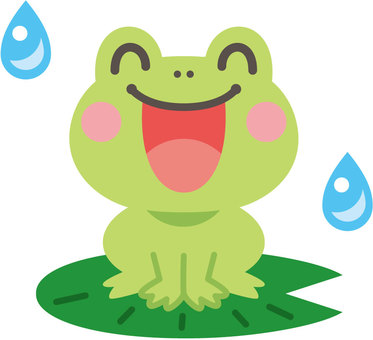 笑顔のカエル