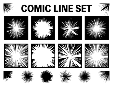 Background concentrated line comics (png through)