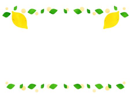 잎과 레몬 프레임
