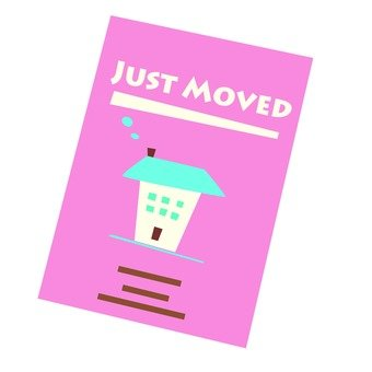 Moving - moving postcard (pink)