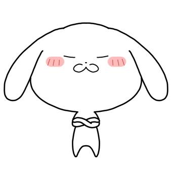 Doya face white rabbit