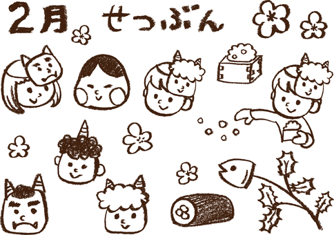 Setsubo illustration drawn with crayon