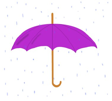 Umbrella (purple), rain