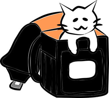Nyanko who entered the school bag