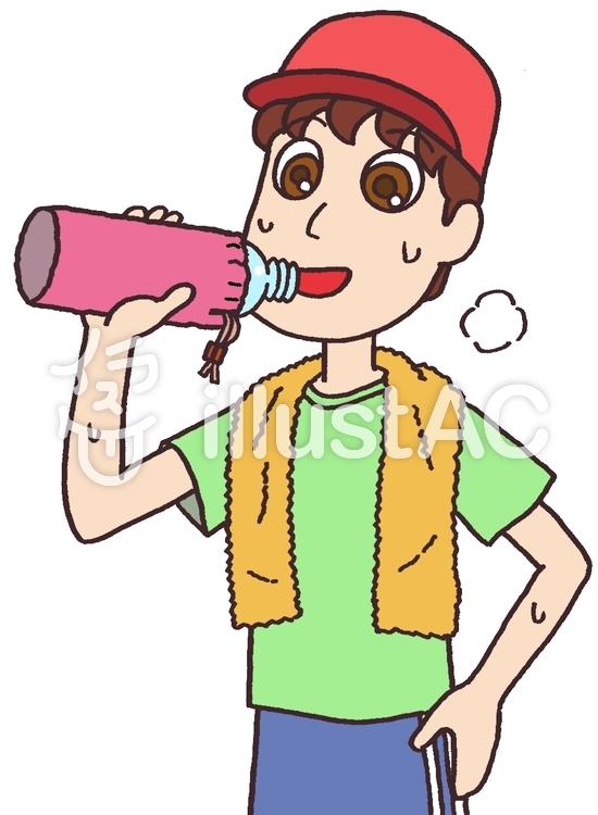 熱中症対策で水分補給イラスト No 866020無料イラストなら