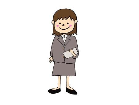 Office worker woman