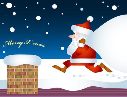 Santa Claus chimney gift