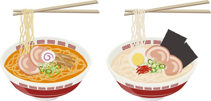 Ramen with chopsticks